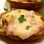Πατάτες γεμιστές με τυρί και προσούτο